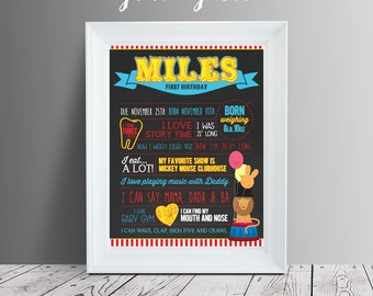 Carnival Theme Birthday Party Chalkboard Style Sign