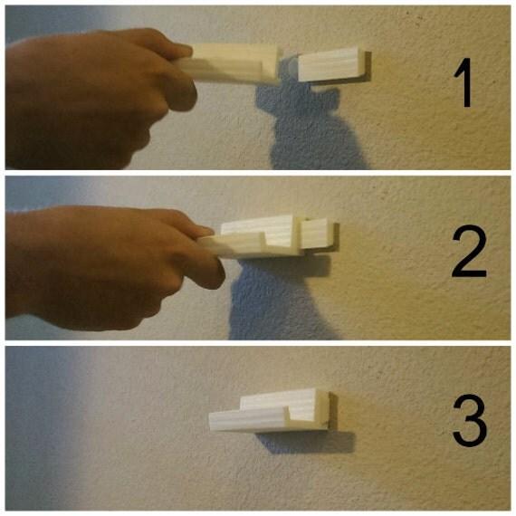 Vinyl Record Wall Mount Display Shelf - 3D Printed Wall Art Decor,  Apartment Friendly. ◅ - Vinyl Record Wall Mount Display Shelf 3D Printed Wall Art