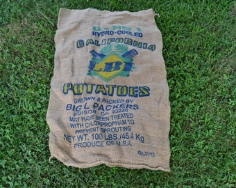 Burlap Sack - Burlap Potato Sack - Burlap Bag