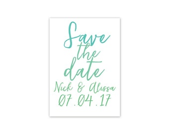 Gradient Save the Date in White