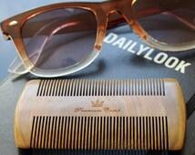 Beard Comb - Quality sandalwood comb with velvet travel bag. Free USA shipping!
