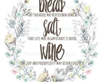 Bread Salt Wine Etsy