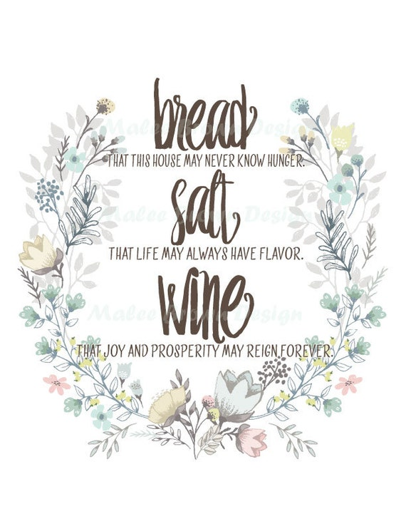 Bread Salt Wine It 39 S A Wonderful Life Quote By Maleebrowndesign