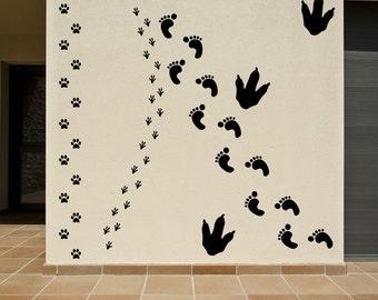 Footprints Vinyl Decals Set