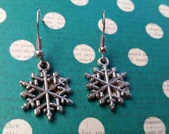 Silver Snowflake Drops