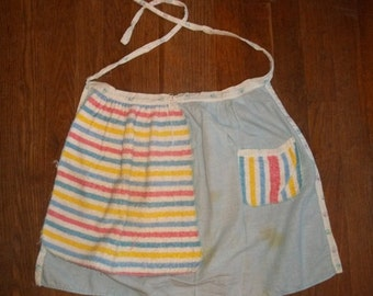 Vintage Apron with terry cloth towel