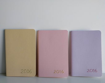 2016 Embroidered Year Moleskine Pastel Notebook - Set of 3