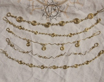 Bracelets charms in brass