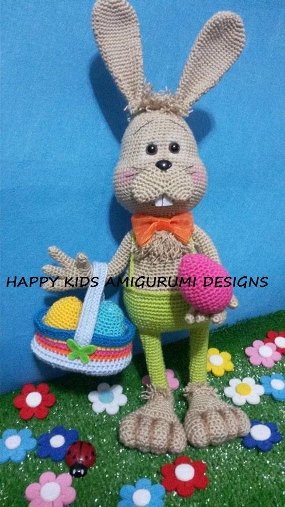 Amigurumi Easter Bunny Pattern : EASTER BUNNY-Amigurumi Crochet Pattern-PDF