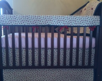 Denim Rose Quilted Baby Crib Bedding by Dance With Joy Baby Bedding