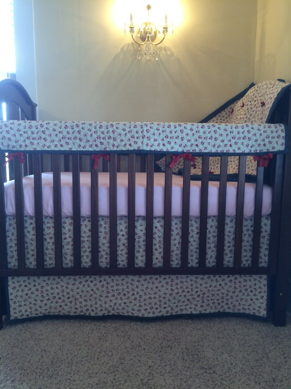 denim quilted baby crib bedding by with baby