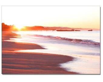 California beach art, Sea Cliff Sunrise