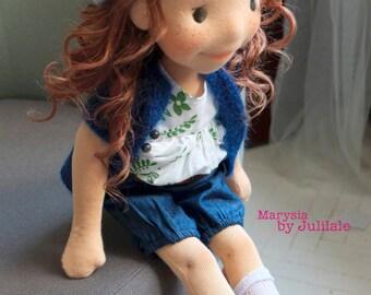 "Waldorf inspired doll Marysia (Mary) 17,5""(45cm)"