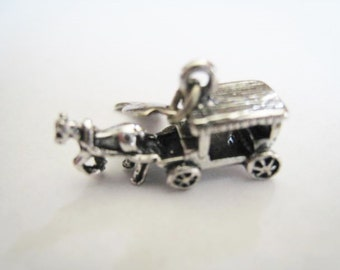 Sterling Horse and Buggy Charm