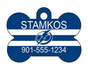 Tampa Bay Lightning Dog Tag Pet Id Tag Personalized w/ Name & Number