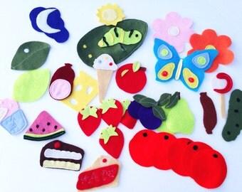 Felt Board Stories - Hungry Caterpillar - Felt Board - Over 30 Pieces