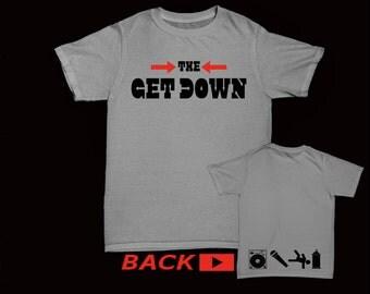 The Get Down, ADULT, Hip Hop Elements (Front & Back) DJ/Emcee/BBoy/Graffiti
