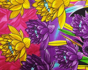 """Rayon Fabric With Pink Color Floral Pattern Printed 44"""" Wd Sewing Crafting Material Indian Fabric For Dress Floral Fabric By 1 Yard ZBC4718"""