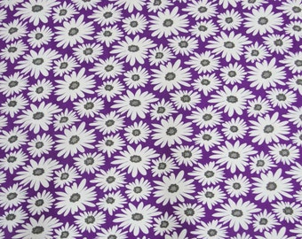 "Purple Color Floral Printed Pattern Pure Indian Cotton Fabric With 42"" Wide Dressmaking Sewing Crafting Apparel Material By 1 Yard ZBC5376"