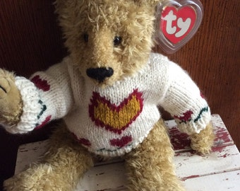 Vintage Ty Beanie Baby Heartley