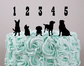 wedding cake topper silhouette with dogs doe silhouette etsy 26501