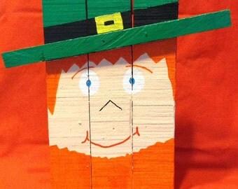 Small Wooden Leprechaun St. Patrick's Day Decoration