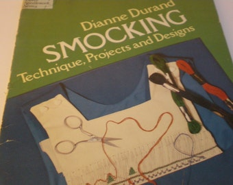 Smocking Patterns, Dianne Durand, Gift for Maker, Embroidery Sewing Patterns, Birthday Gift, Crafting Designs