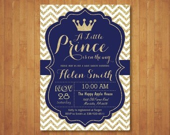prince invitation  etsy, Baby shower invitations