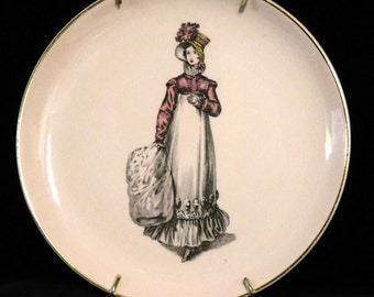 Crooksville Jane Austin plate, probably 1930's or 40's