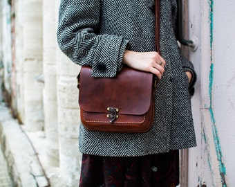 leather bag, small leaher bag , gift for shes,
