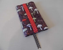Enchanted Mushrooms Handmade Fabric Passport Cover