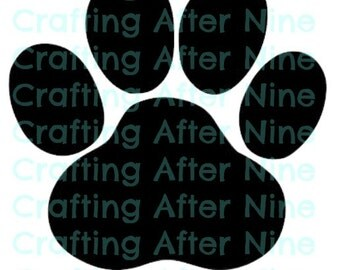 Paw Print SVG Cut Files, Svg Files, Vet PNG Image, Pawprints, Dow Paw, Cat Paw, Cut File for Silhouette, Cricut Explore Cutting File