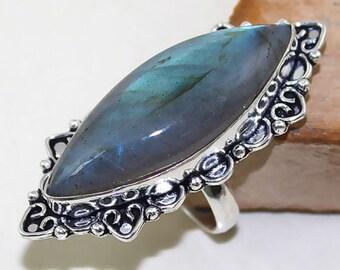 CLEARANCE *Beautiful Labradorite Ring, Size 7.5