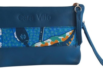 wristlets 100% lether - Blue - African Night
