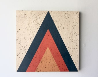Wood wall art, geometric art, mid century modern art, wood print, geometric art, triangle art, mountain art, teepee art, scandinavian art