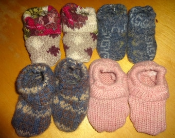 100% WOOL BABY Crib SHOES- Toddler Moccasocks by HuggableEarth