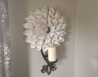Mini Hymnal Book Page Wreath