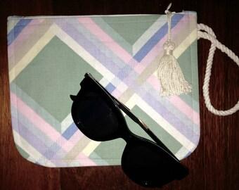 Clutch bag/fabric purse/fabric clutch / cosmetic bag