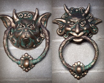 Hand made fantasy knockers sculptures inspired by The Movie Labrynth small / large sizes available