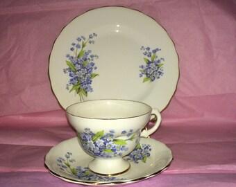 Vintage Rosina Bone China | 3 Piece Set | Teacup | Saucer| Dessert Plate