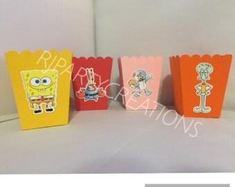 12 Spongebob & Friends mini popcorn boxes