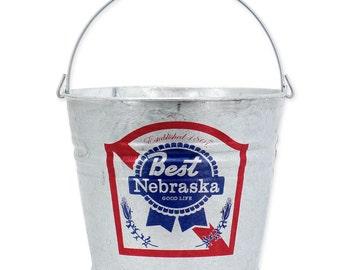 Blue Ribbon Nebraska Beer Bucket - BNEB4420