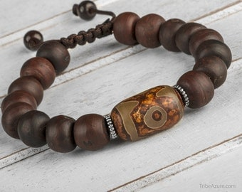 Wood Bracelet, Men Bead Bracelet, Men Mala Bracelet, Bracelet For Men, Wooden Bracelet, Wood Bead Bracelet, Yoga Bracelet