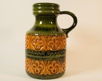 Scheurich vase, Foligno decor, model 489-23 - West Germany, Fat Lava, Mid century, Vintage
