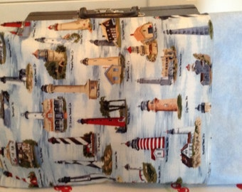 "Lighthouses travel pillowcase for 14"" X 20"" pillow"