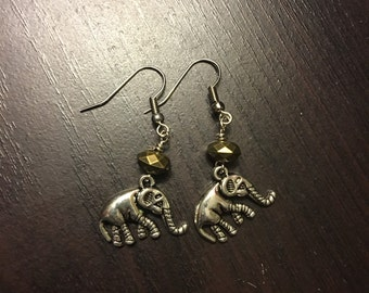 Elephant Earrings - surgical steel hooks