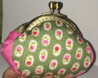 Purse, Coin Purse, fabric purse, framed purse, clasp purse, floral purse