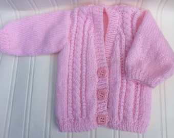 Baby's cable knit cardigan