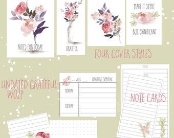 Digital, print, I am Grateful, TN, Standard todo, dots, lines, Spring printable - PDF