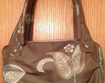 Toupe & Turquoise Handbag